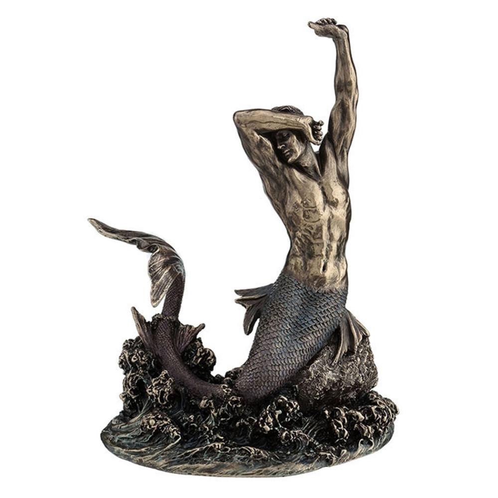 Merman Stretching on Rock