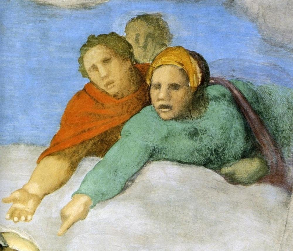 MICHELANGELO - DETAIL FROM THE LAST JUDGEMENT 13