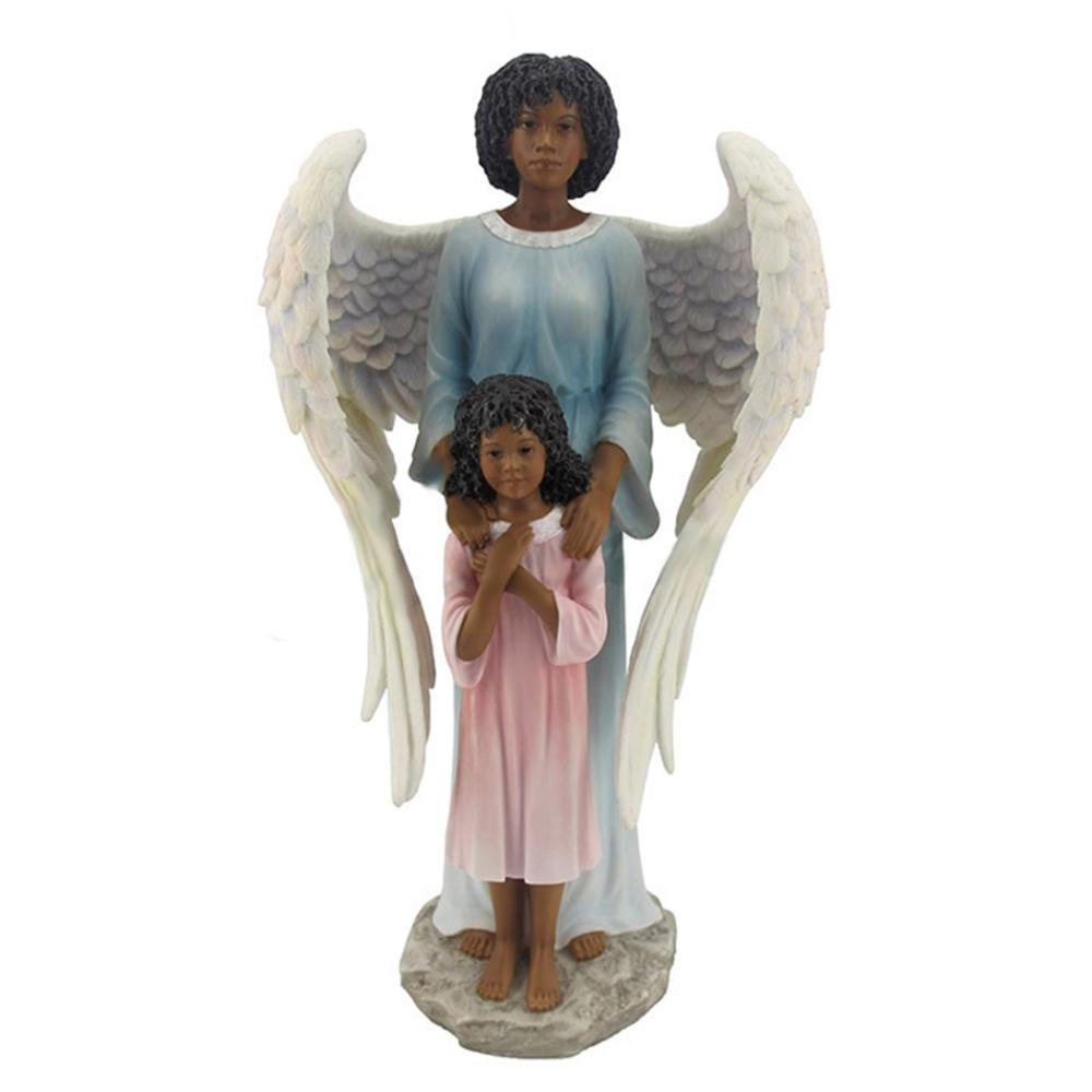Guardian Angel Protecting A Girl - Ebony
