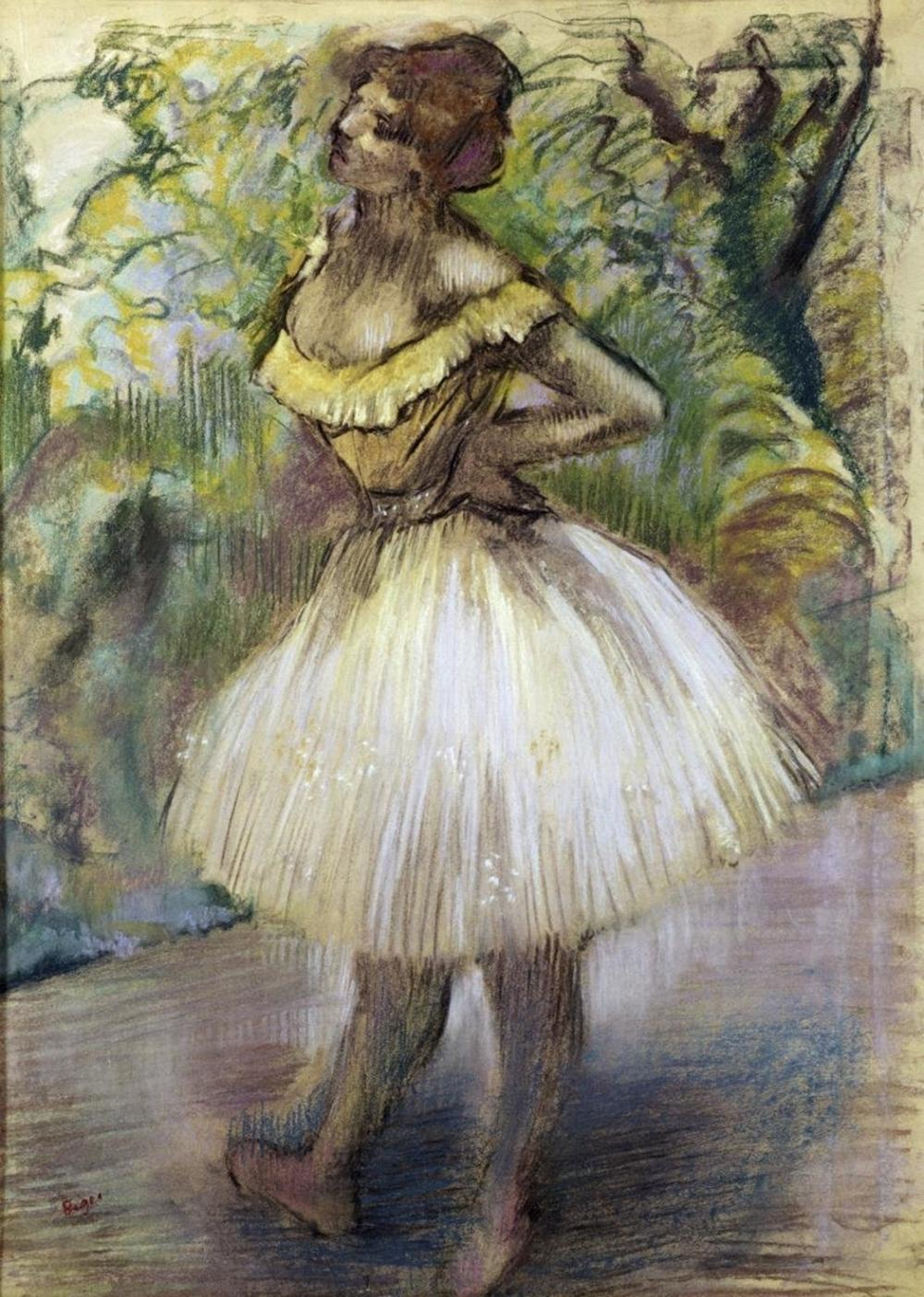 EDGAR DEGAS - DANCER IN YELLOW