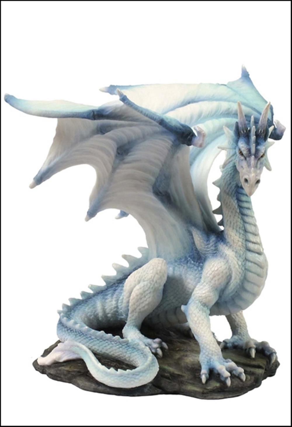 WHITE DRAGON SITTING UP