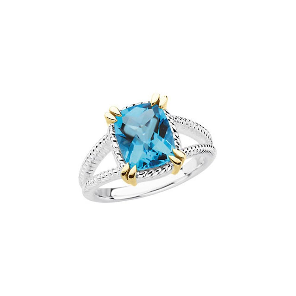 Sterling Silver Swiss Blue Topaz Ring