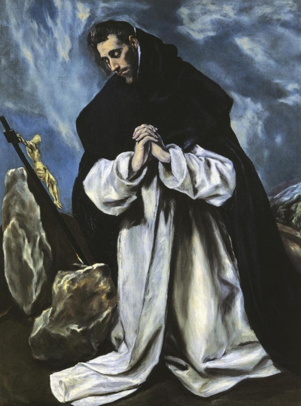 EL GRECO - SAINT DOMINIC IN PRAYER