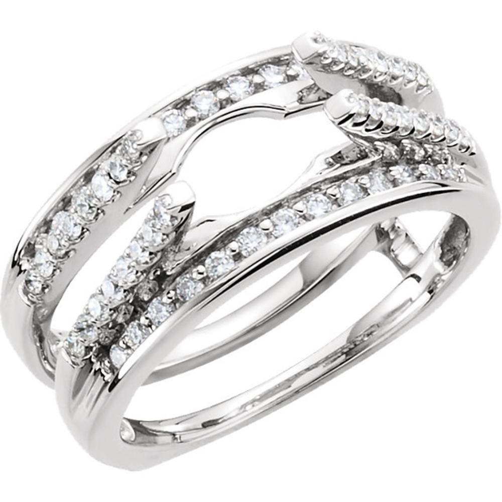 14K White 1/2 CTW Diamond Ring Guard