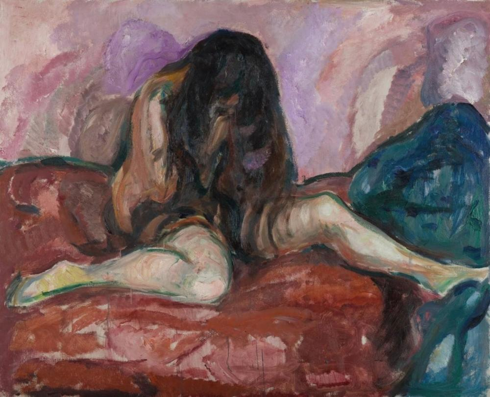 EDVARD MUNCH - WEEPING NUDE. 1913-1914