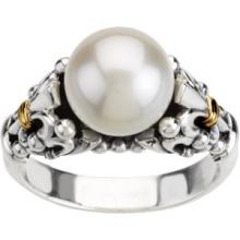 10mm Freshwater Pearl in Sterling and 14kt Gold