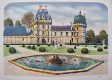 Rolf Rafflewski Chateau I Hand Signed Limited Edition Lithograph France