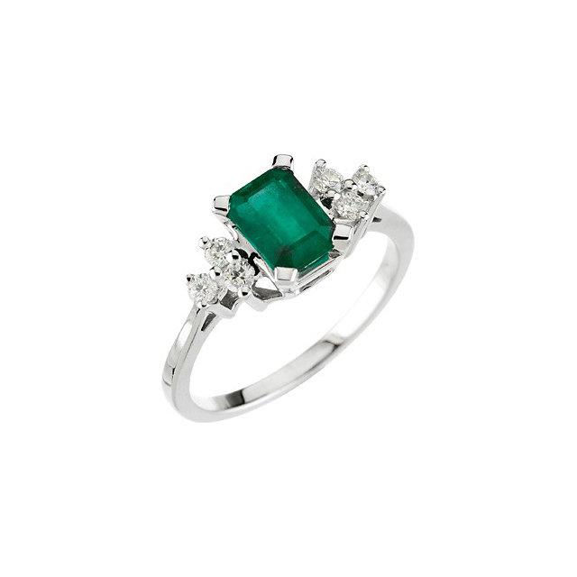 genuine emerald ring