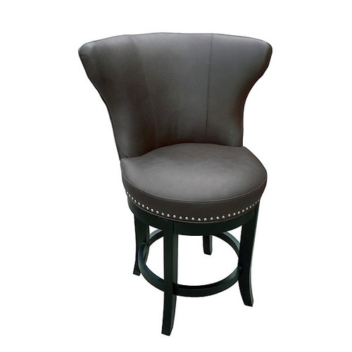 Grey Swivel Bar Stool