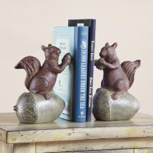 Squirrel and Acorn Bookends PR