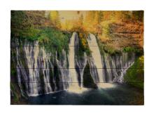 Burny Falls By Kelly Wade Painting Print On Decorative Wood Wall Décor