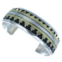 Sterling Silver 12KGF Tommy And Rose Singer Navajo Cuff Bracelet