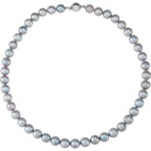 Sterling Silver Freshwater Cultured Grey Pearl 18