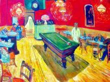 Vincent Van Gogh The Night Cafe, Rec. Room