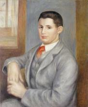 PIERRE-AUGUSTE RENOIR - YOUNG MAN WITH A RED TIE