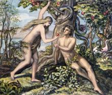 JULIUS SCHNORR VON CAROLSFELD - MAN'S SHAMEFUL FALL