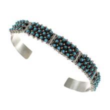 Turquoise Zuni Sterling Silver Cuff Bracelet