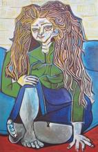 Pablo Picasso Woman Sitting Crossed Legged Estate Signed Limited Edition Giclee