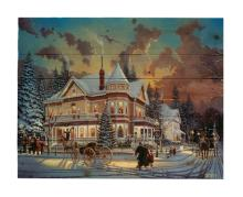 Christmas At Great Grandpa's By Keith Brown. Decorative Wood Wall Décor Art Print