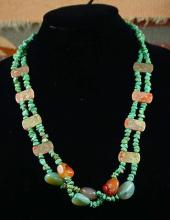 Santo Domingo Turquoise & Semi Precious Stones Necklace