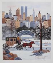 Jane Wooster Scott Manhattan Wonderland Hand Signed Limited Edition Art Lithograph