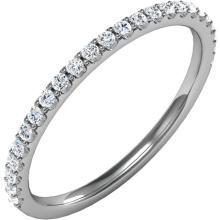 Platinum 1/4 CTW Diamond Band