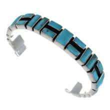 Southwestern Turquoise Sterling Silver Cuff Bracelet