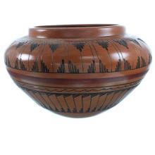 Native American Pottery - Hand Crafted Navajo Pot By Agnes Woo