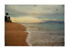 Ka'anapali Sunrise Hawaiian Islands By Kelly Wade Painting Print On Decorative Wood Wall Décor