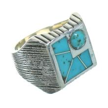 Southwestern Silver And Turquoise Ring Size 5-1/4