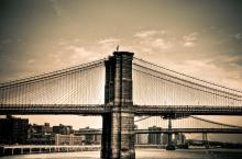 Brooklyn Bridge New York Bridges. A Gallery Wrapped Canvas By Kelly Wade