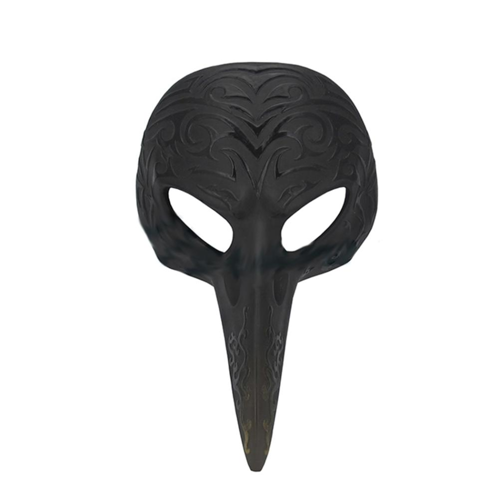 Patterned Crow Beak Mask Wall Plaque