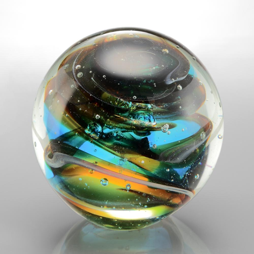 Blue Mosaic Sphere / Paperweight