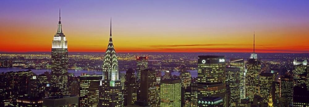 RICHARD BERENHOLTZ - MIDTOWN MANHATTAN AT SUNSET, NYC