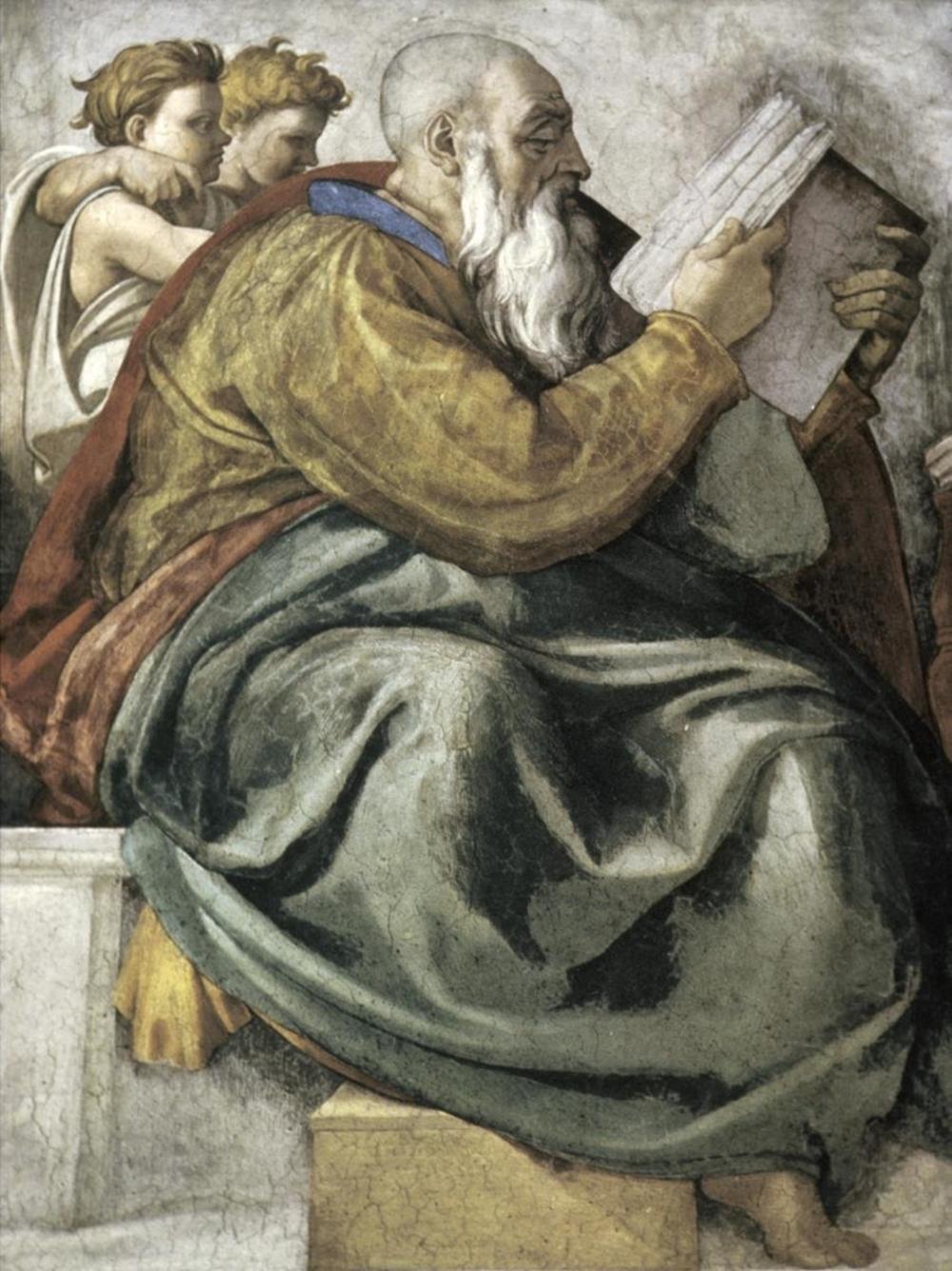 MICHELANGELO - THE PROPHET ZECHARIAH