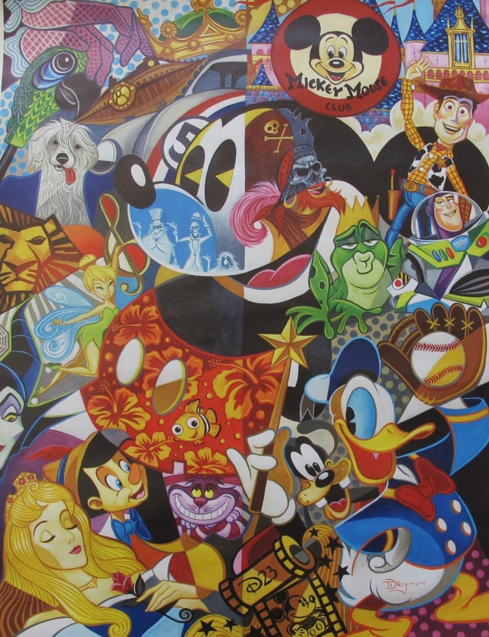 Tim Rogerson IN THE COMPANY OF LEGENDS Hand Signed Giclee on Canvas DISNEY ART