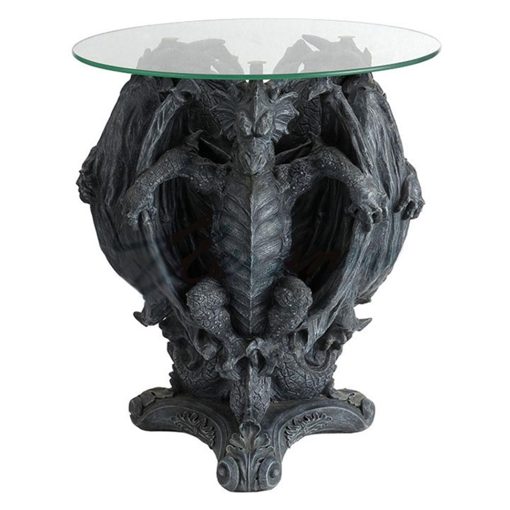 Glass Table- 3 Dragons Sitting