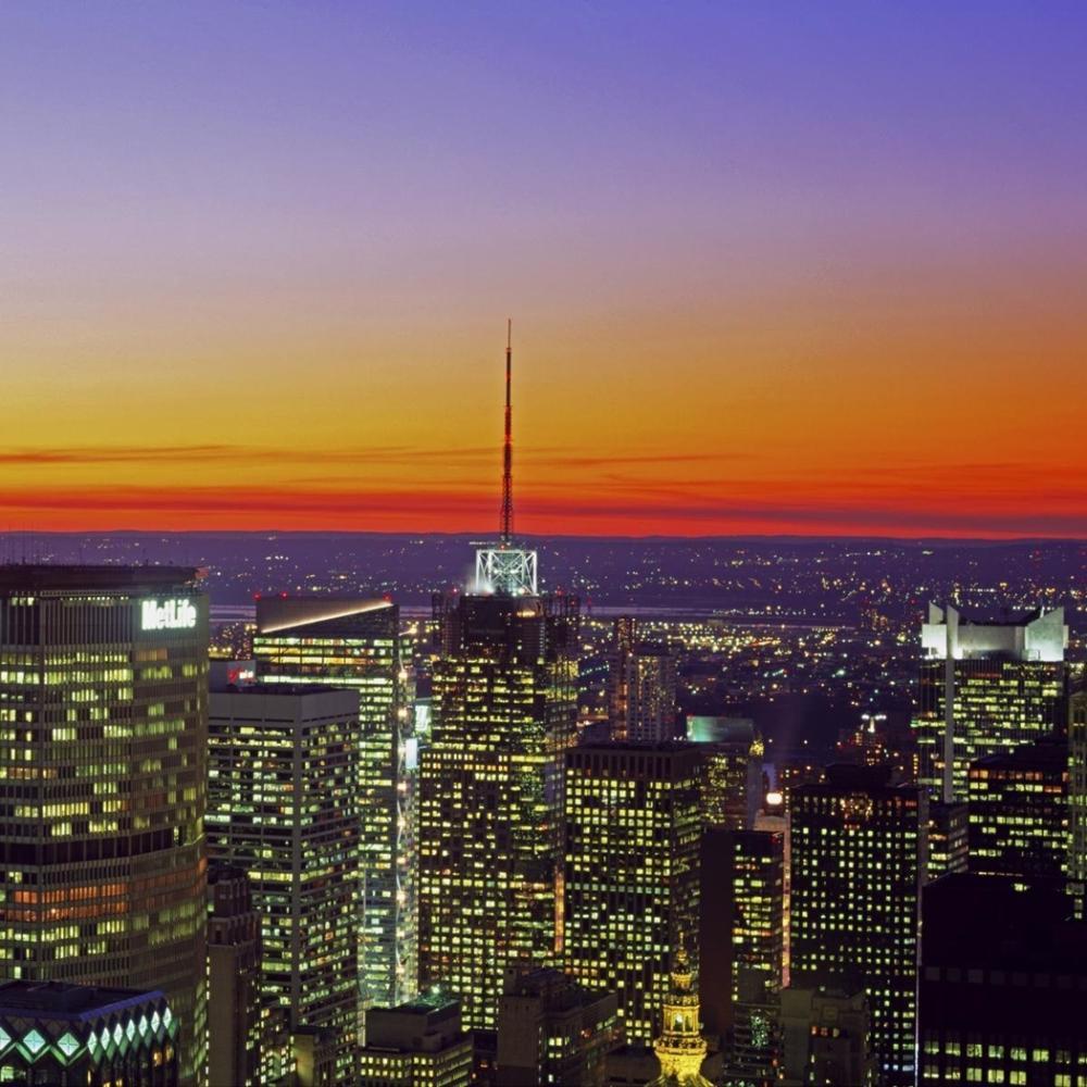 RICHARD BERENHOLTZ - MIDTOWN MANHATTAN AT SUNSET, NYC (RIGHT)