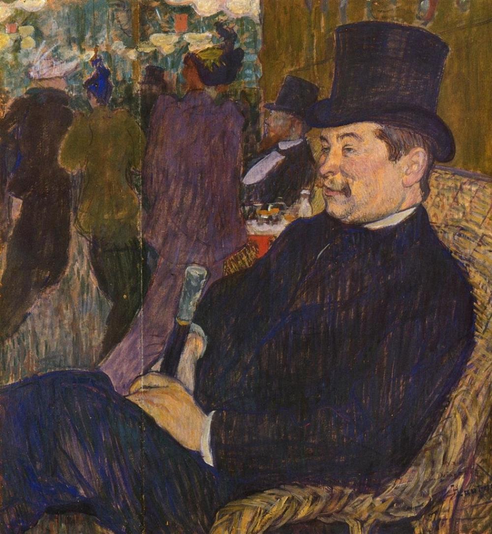 HENRI TOULOUSE-LAUTREC - M DELAPORTE AT THE JARDIN DE PARIS