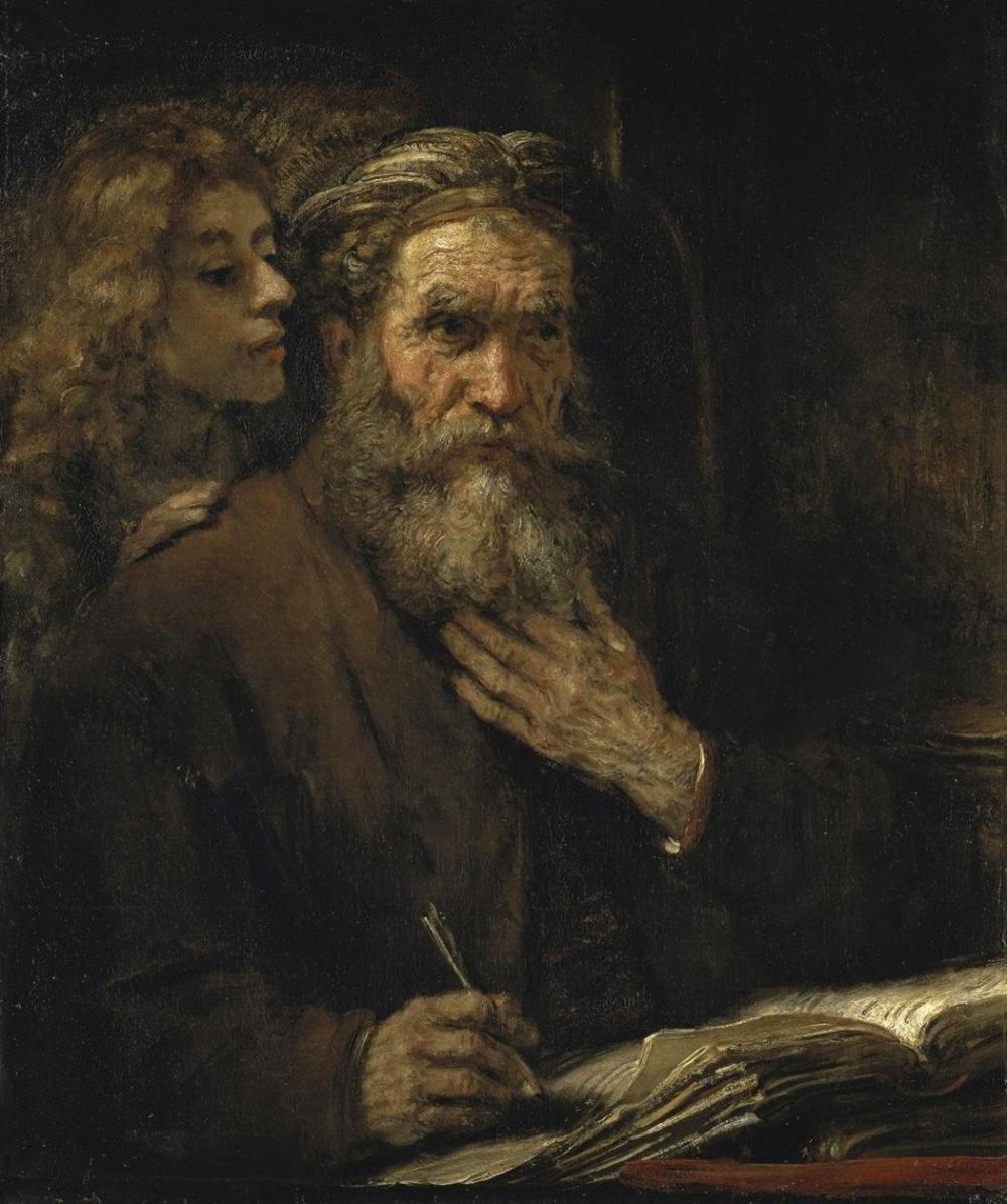 REMBRANDT VAN RIJN - SAINT MATTHEW AND THE ANGEL