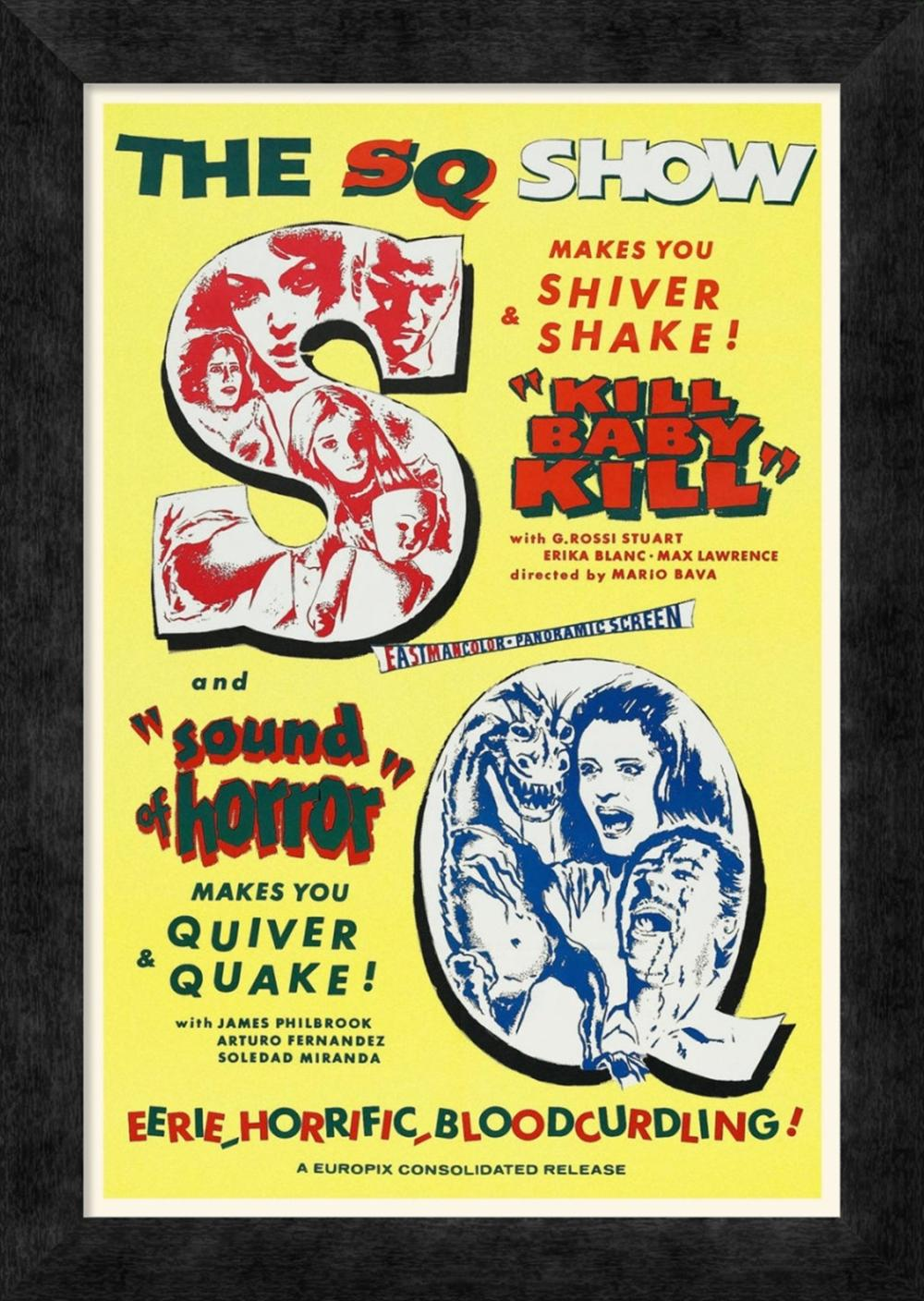 HOLLYWOOD PHOTO ARCHIVE - DOUBLE FEATURE - KILL BABY KILL AND SOUND OF HORROR