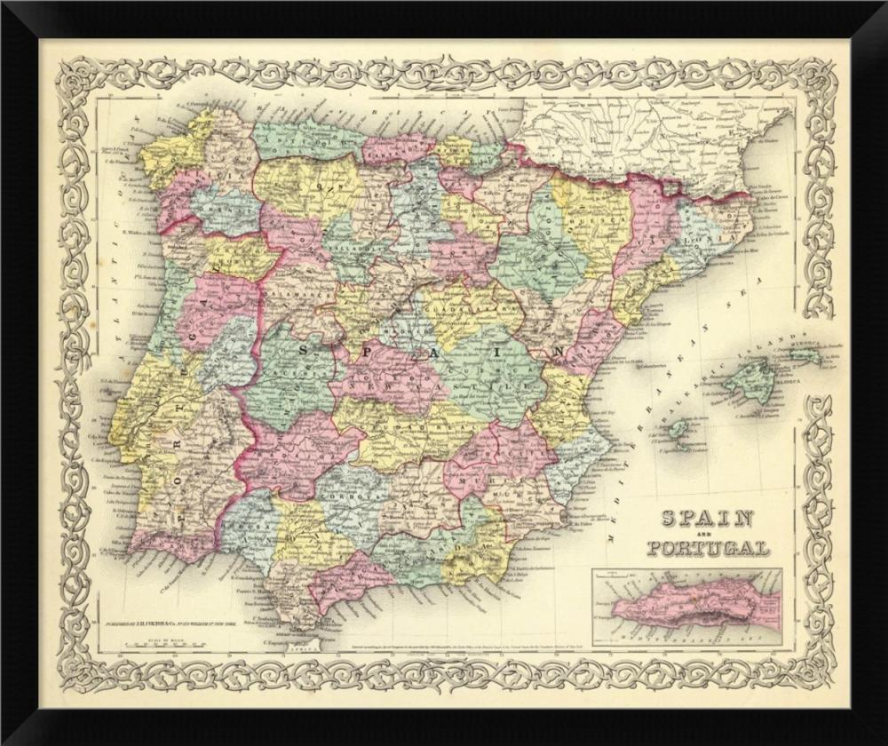 G.W. COLTON - SPAIN AND PORTUGAL, 1856