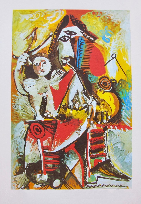 Pablo  Picasso Child On Man's Lap