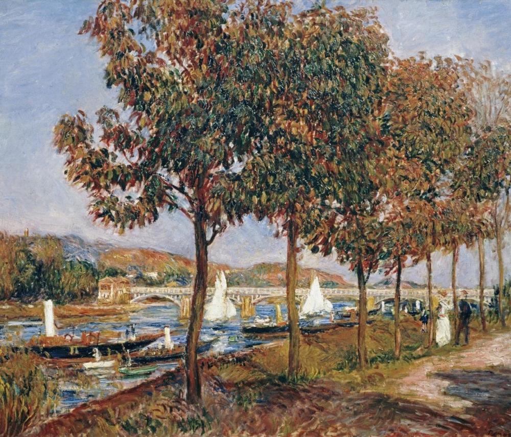 PIERRE-AUGUSTE RENOIR - THE BRIDGE AT ARGENTEUIL