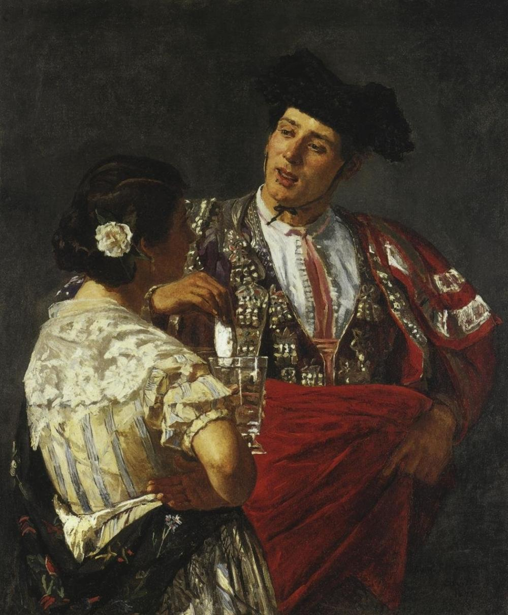 MARY CASSATT - OFFERING THE PANAL TO THE BULLFIGHTER 1872