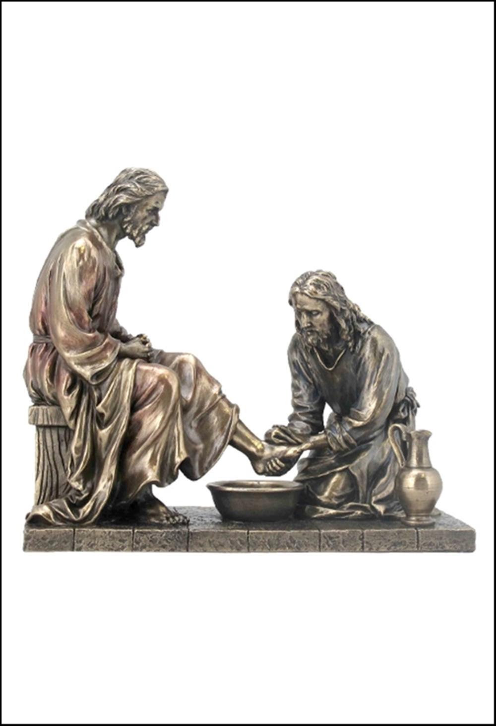 JESUS WASHING HIS DISCIPLE'S FEET Art