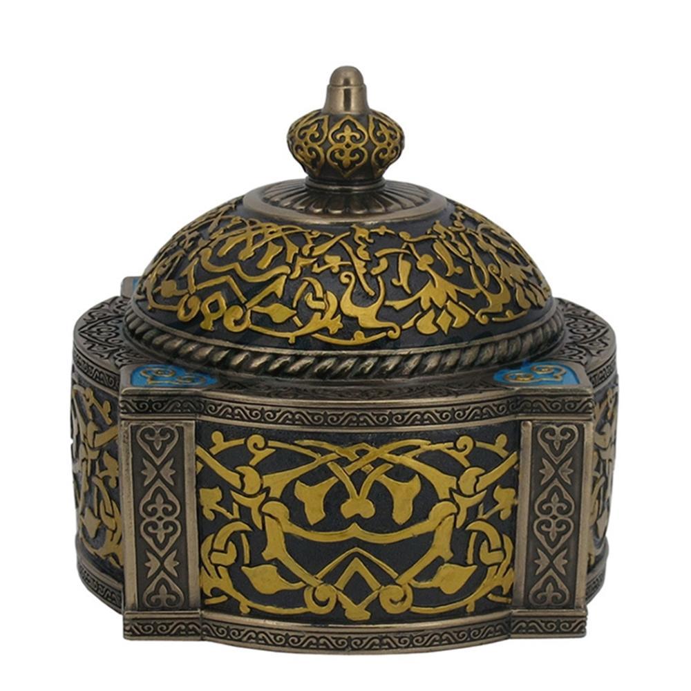 Arabesque Pattern - Four-Pillar Dome Trinket Box
