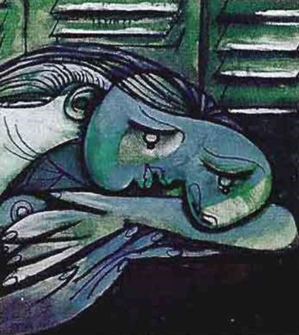 LADY WITH HEAD ON ARMS Pablo Picasso Estate Signed Giclee