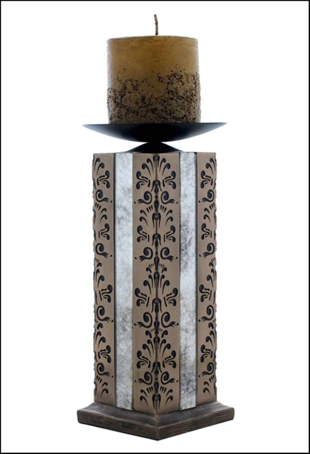 ABBEY CANDLE HOLDER 31CM INCLUDING CANDLE Art