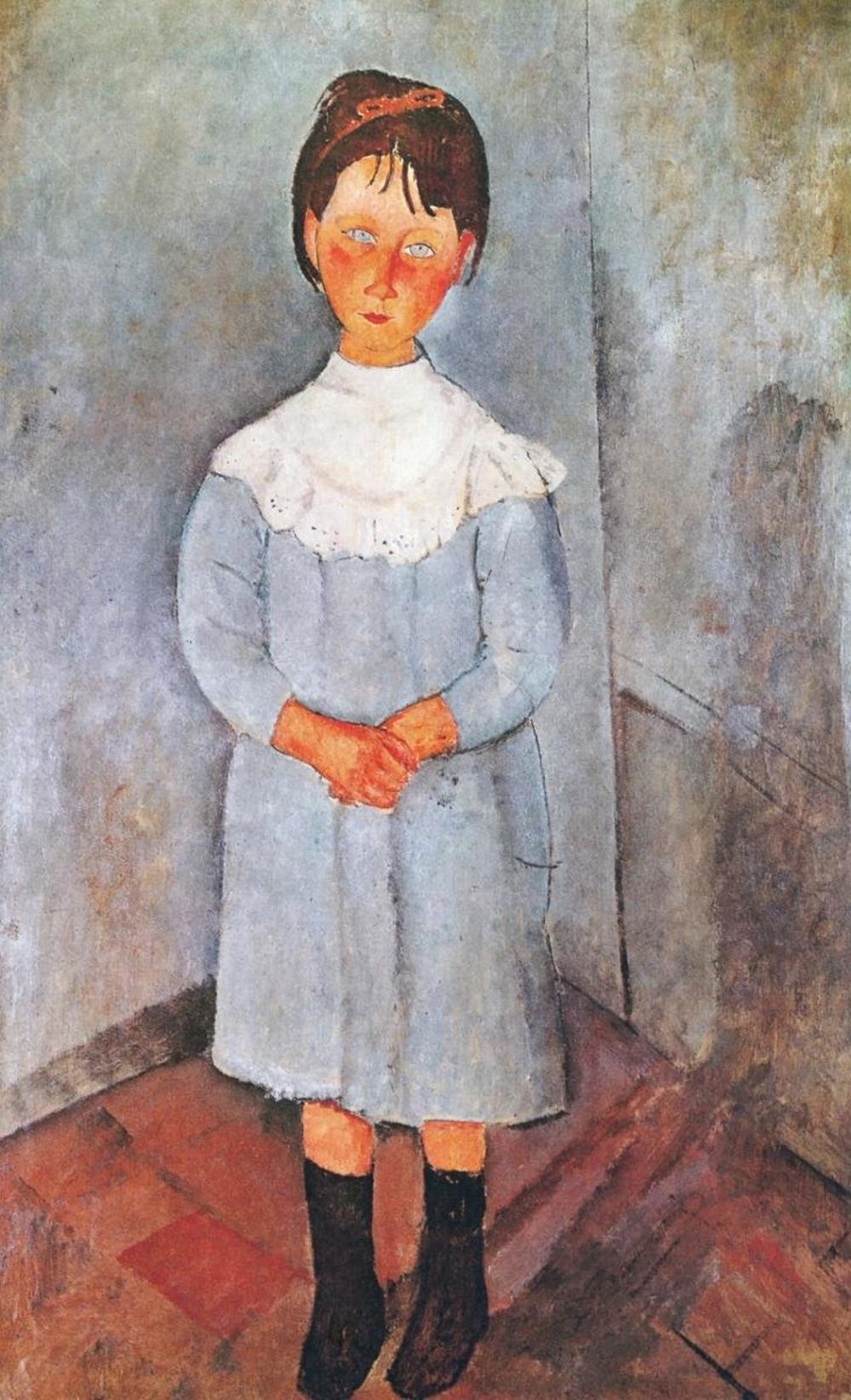 AMEDEO MODIGLIANI - LITTLE GIRL IN BLUE